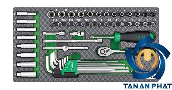 Bộ dụng cụ 1/4 inches 50 món TOPTUL GEA5004