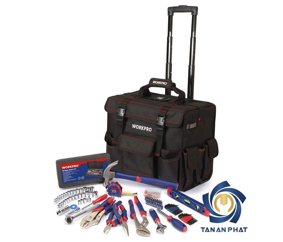 Bộ dụng cụ 176 chi tiết với xe đẩy túi WORKPRO W009029