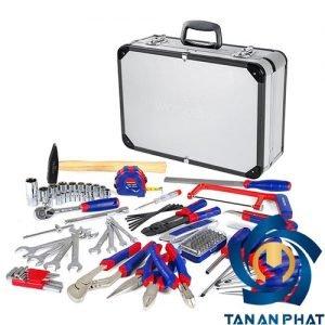 Bộ dụng cụ với hộp đựng bằng nhôm WORKPRO W009019