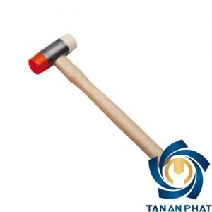 Búa cao su cán gỗ ENDURA E7261, 28mm