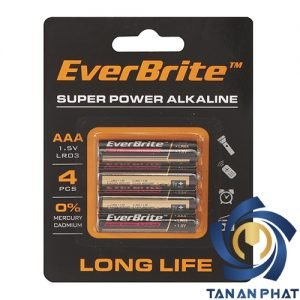 Pin AAA gói 4 chi tiết EVERBRITE E006000