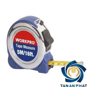 Thước Cuộn 7.5m Vỏ mạ Crome Workpro W061013